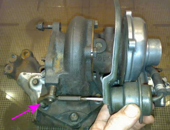 Turbo and wastegate mechanism